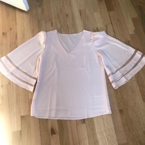 NWOT  Unbranded Pink Top.  Size M
